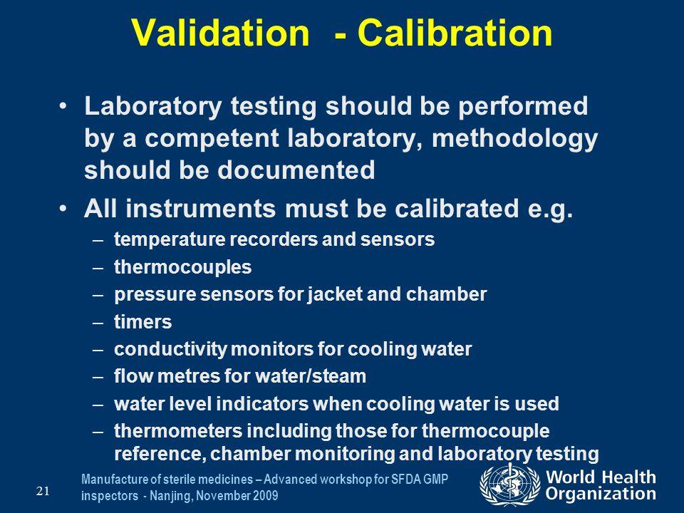 Validation - Calibration