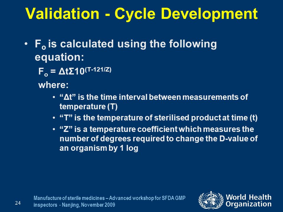 Validation - Cycle Development