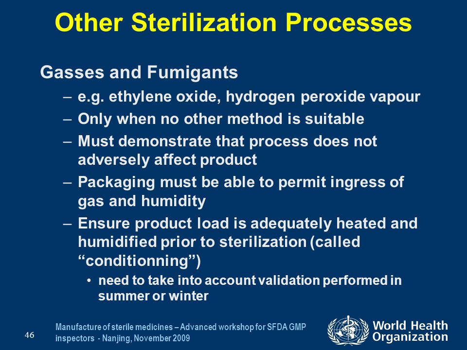 Other Sterilization Processes