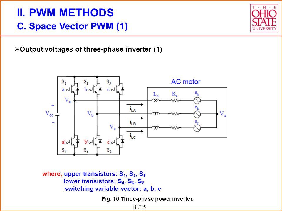 II. PWM METHODS C. Space Vector PWM (1)
