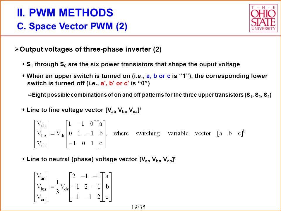 II. PWM METHODS C. Space Vector PWM (2)