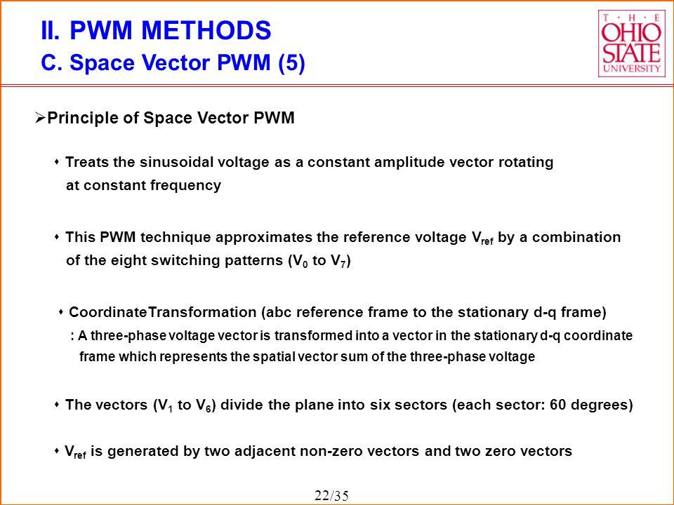 II. PWM METHODS C. Space Vector PWM (5) Principle of Space Vector PWM