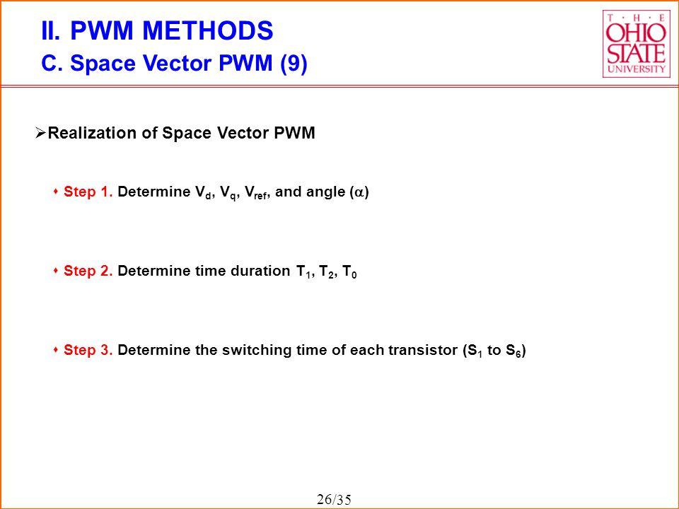 II. PWM METHODS C. Space Vector PWM (9)