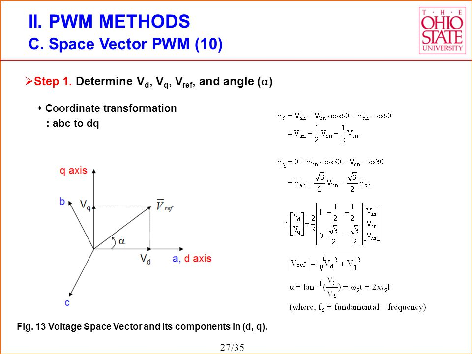 space vector pwm thesis Space vector pwm (svpwm) schemes for a five-phase vsi, which can be used for five-phase motor drives with sinusoidal distribution of windings a detailed model of a.