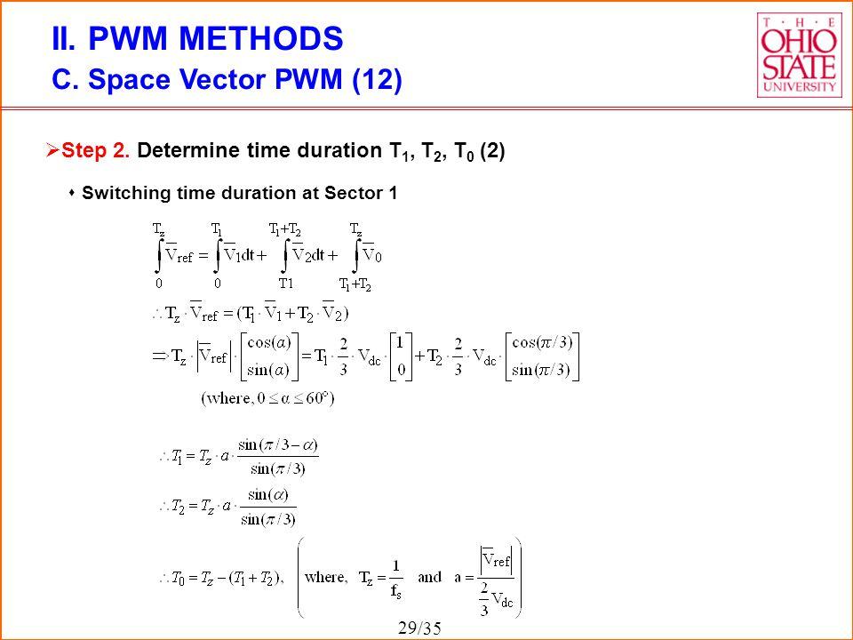 II. PWM METHODS C. Space Vector PWM (12)