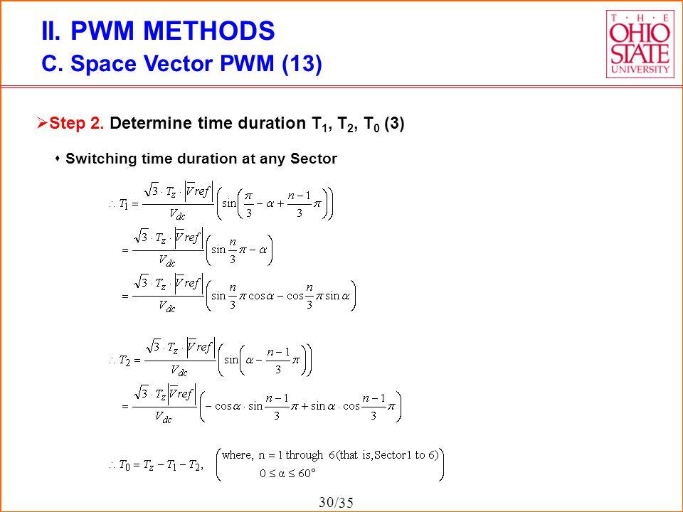 II. PWM METHODS C. Space Vector PWM (13)
