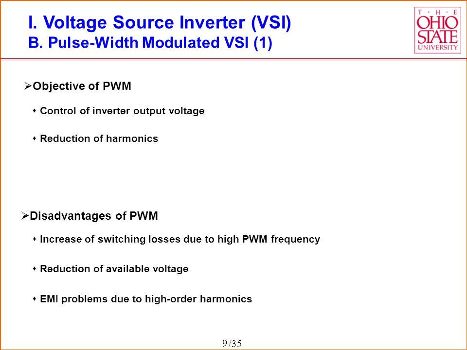 I. Voltage Source Inverter (VSI)