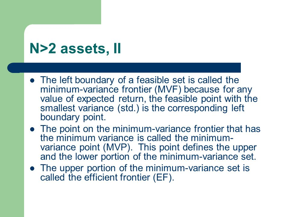 N>2 assets, II