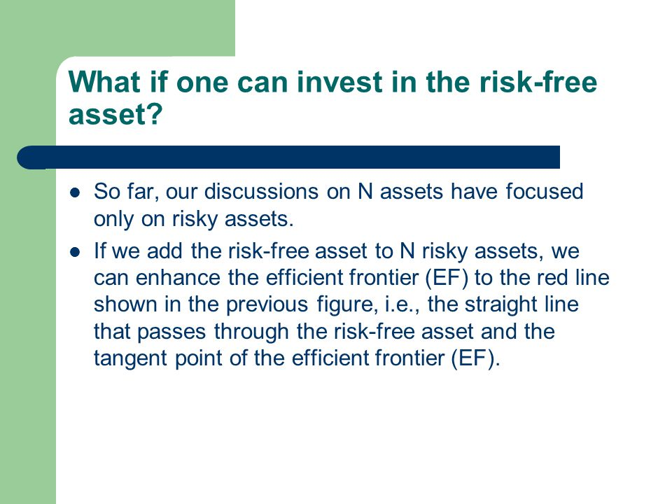 What if one can invest in the risk-free asset