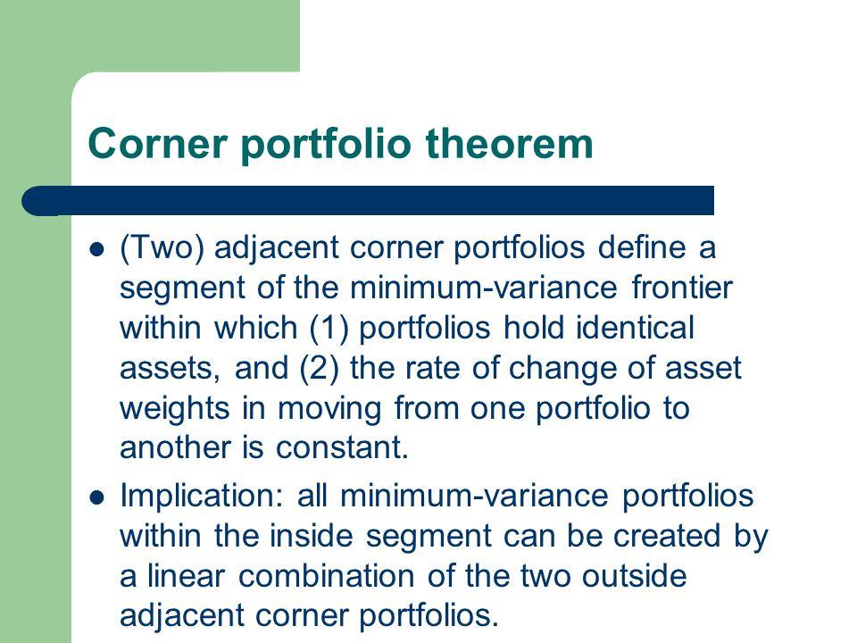 Corner portfolio theorem
