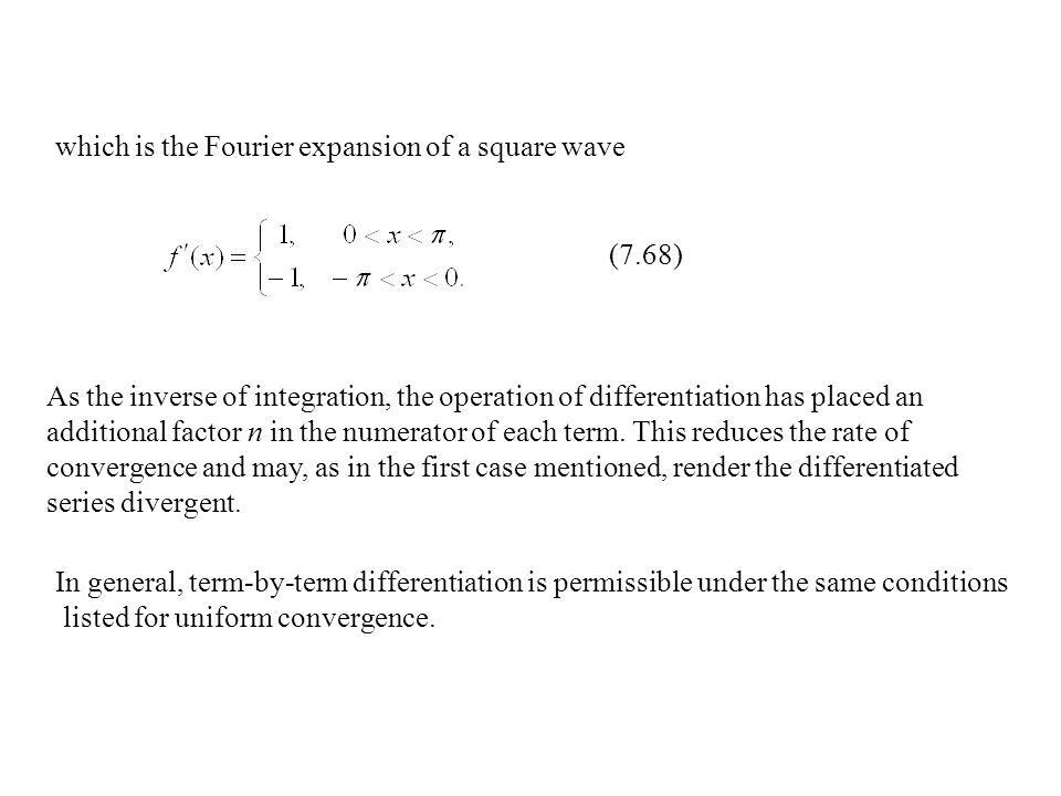 which is the Fourier expansion of a square wave