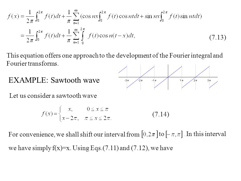 EXAMPLE: Sawtooth wave