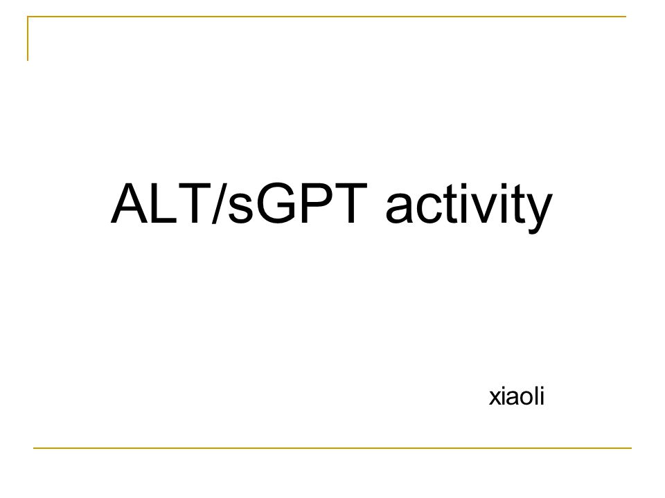 ALT/sGPT activity xiaoli