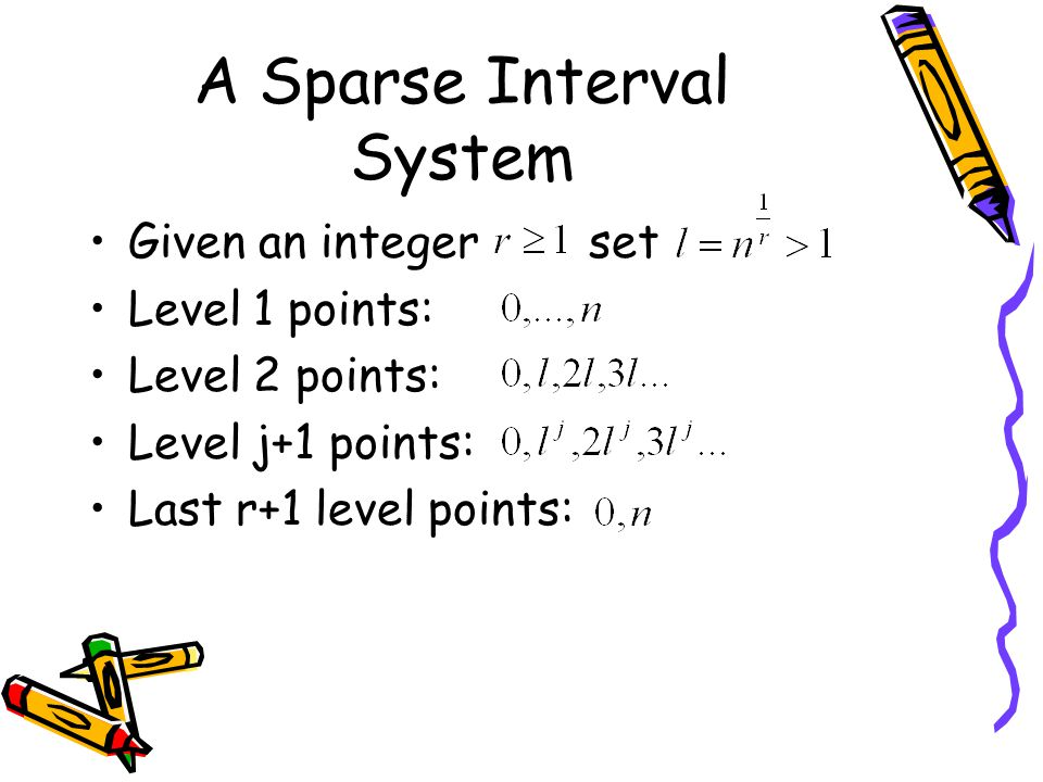 A Sparse Interval System