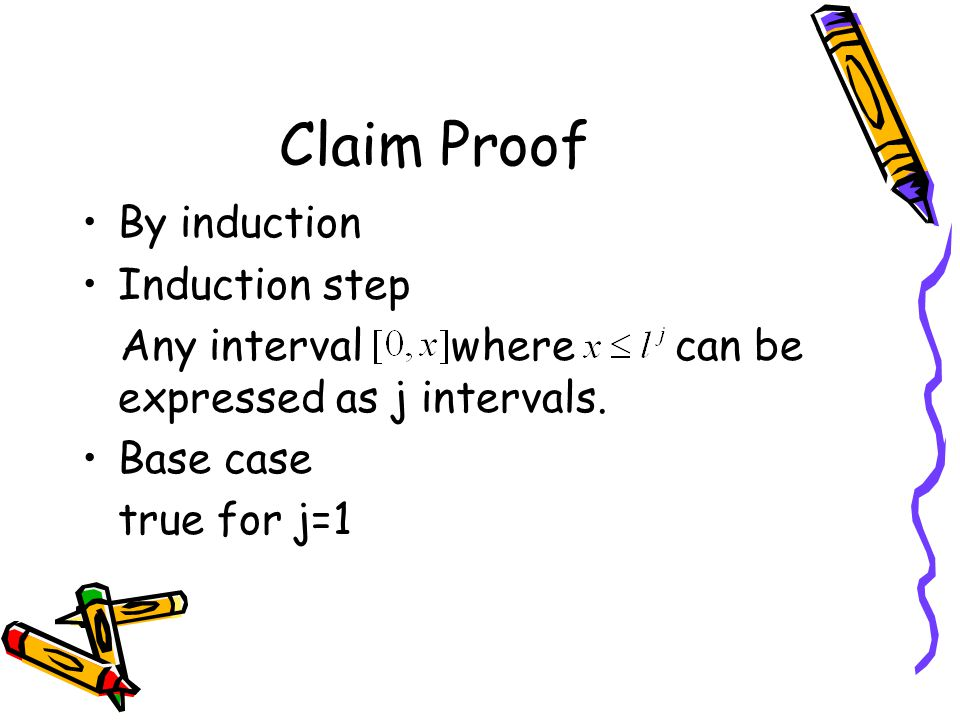 Claim Proof By induction Induction step