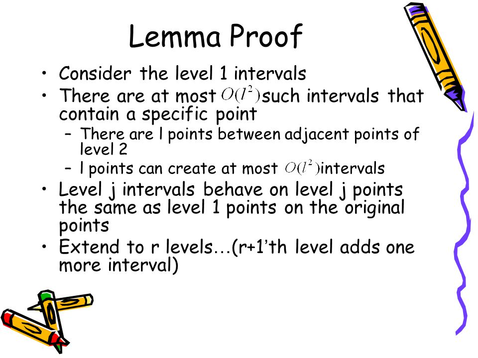 Lemma Proof Consider the level 1 intervals