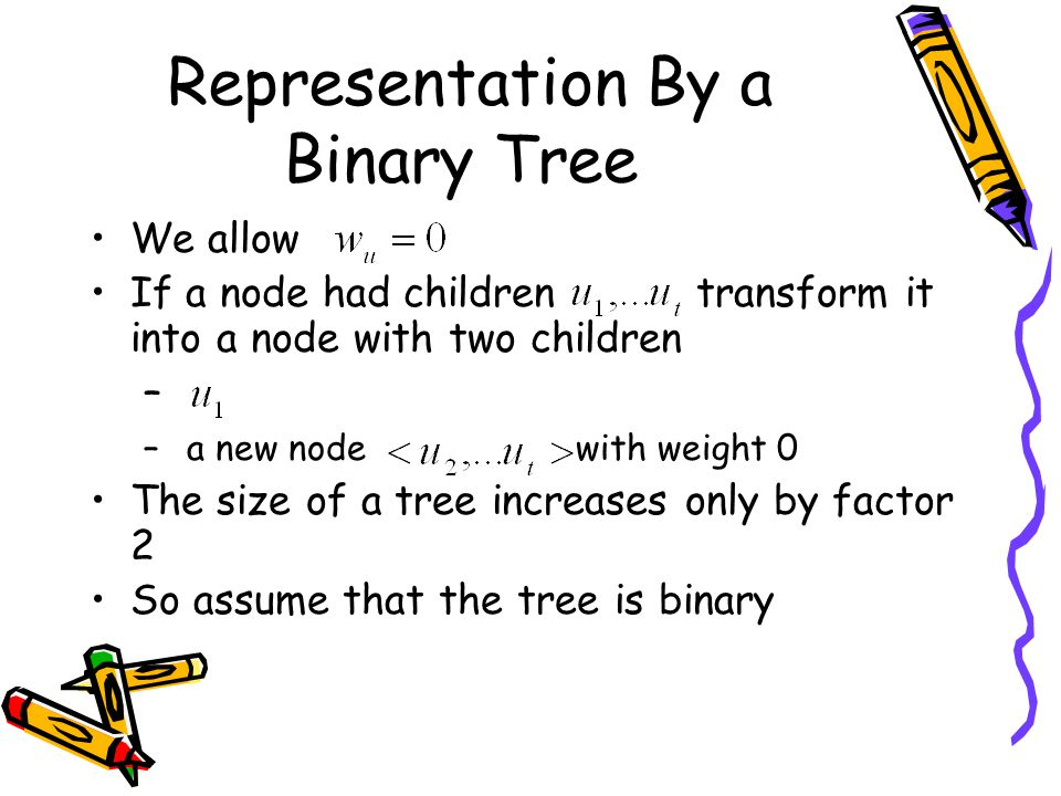 Representation By a Binary Tree
