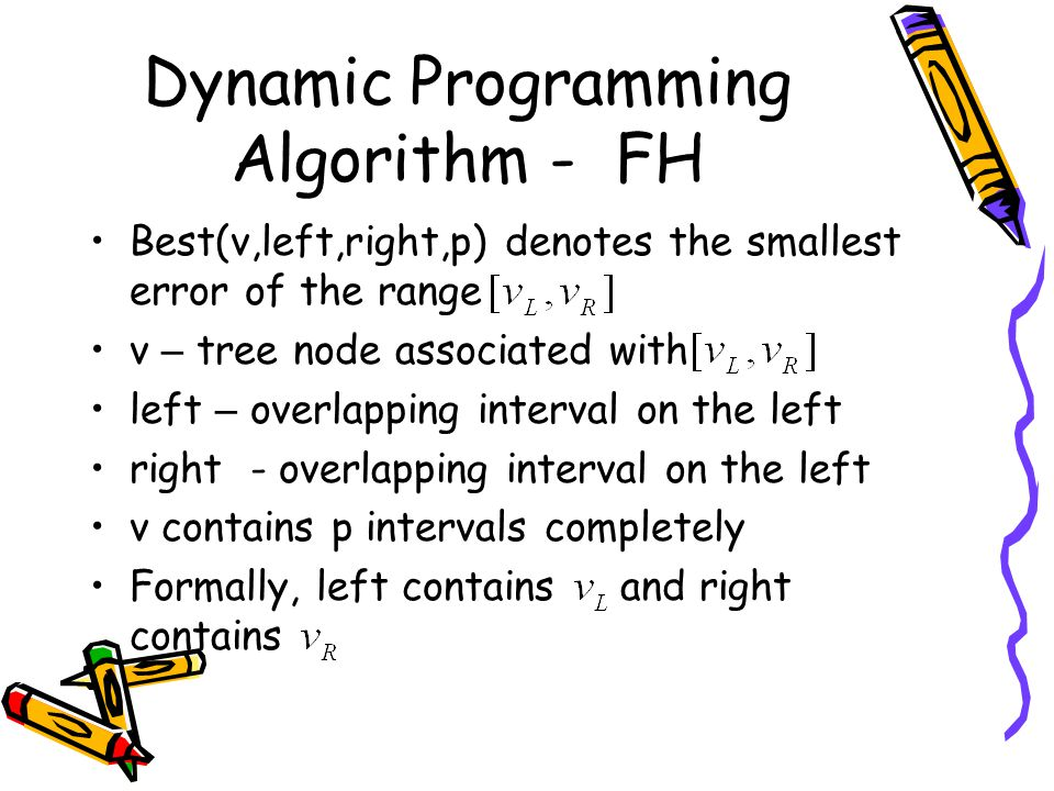 Dynamic Programming Algorithm - FH