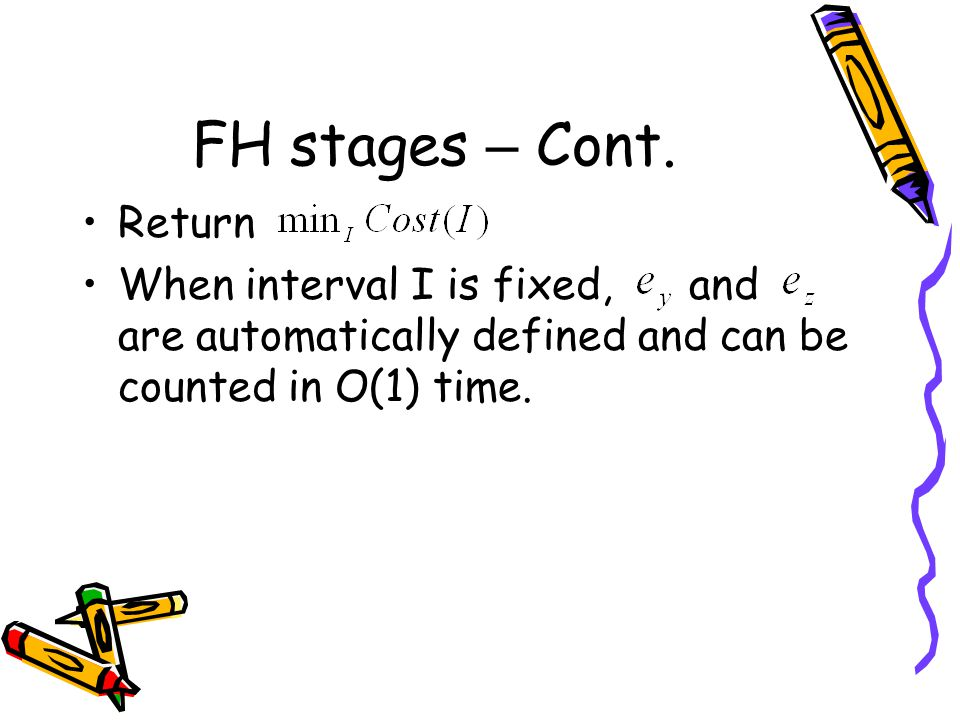 FH stages – Cont. Return.