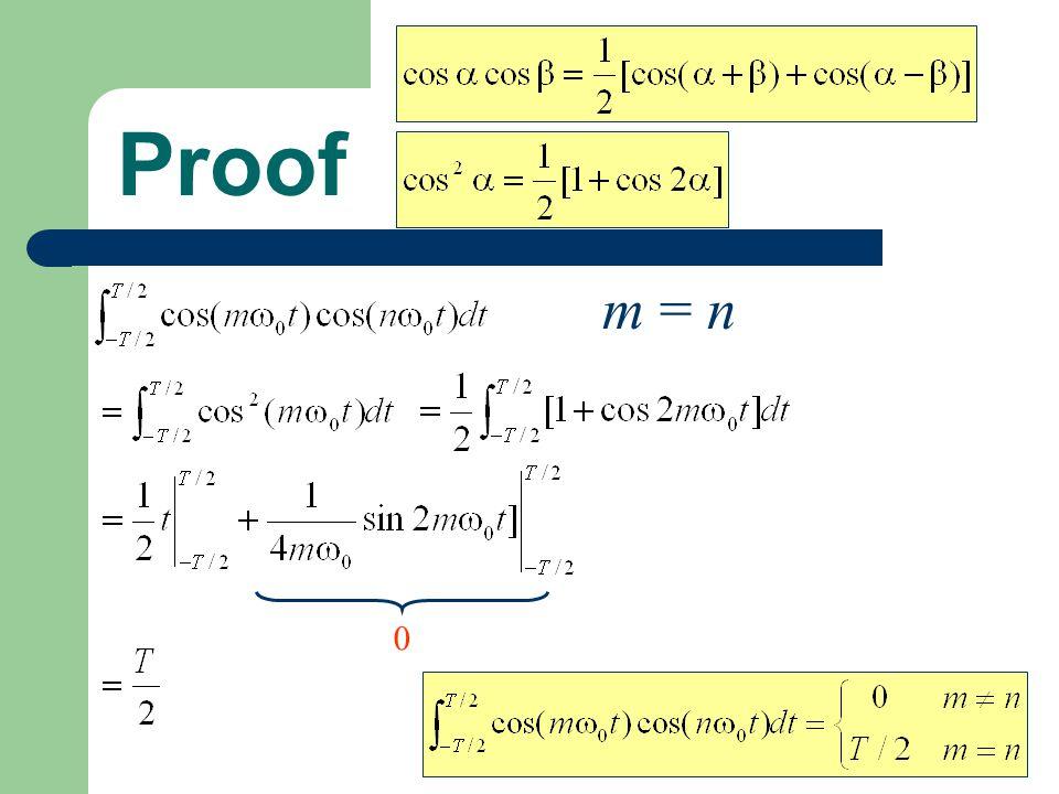 Proof m = n