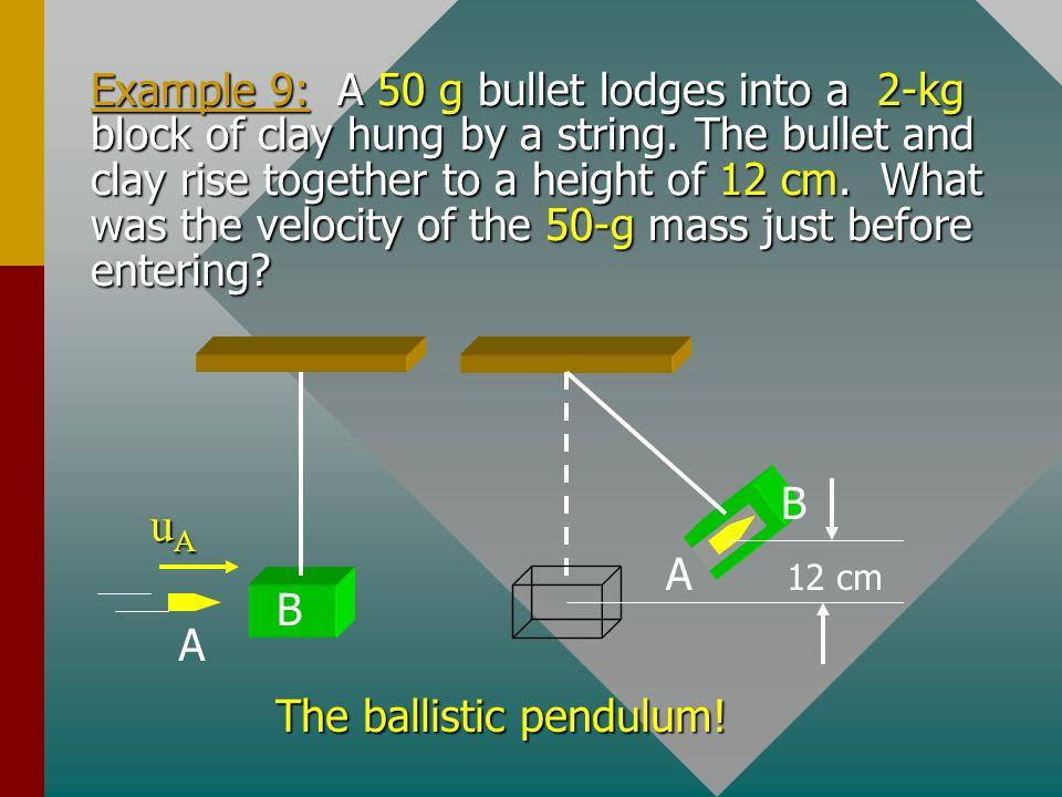 The ballistic pendulum!