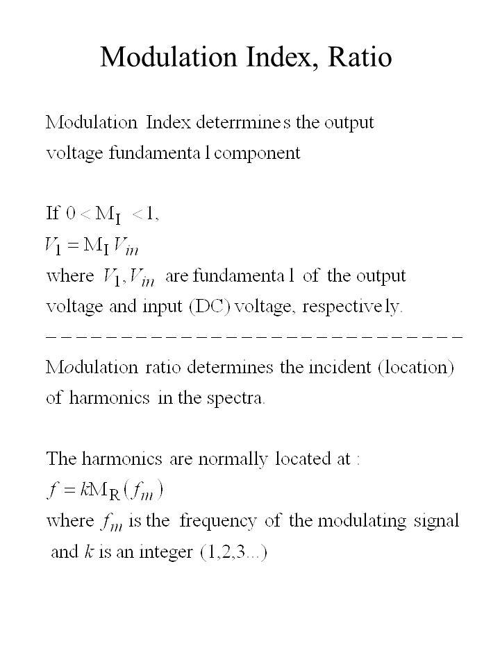 Modulation Index, Ratio