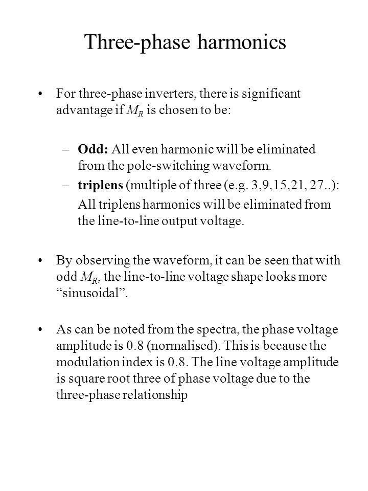 Three-phase harmonics