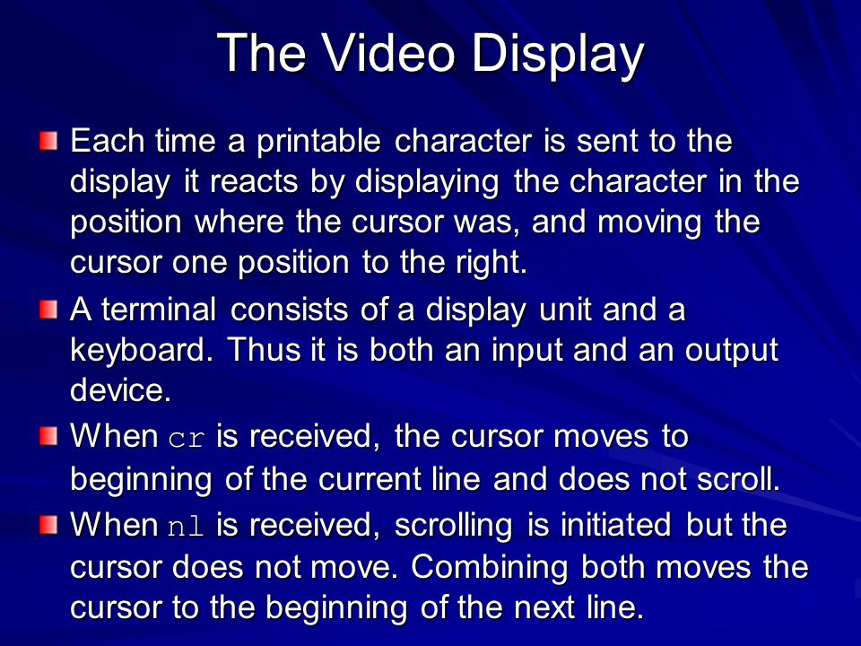 The Video Display