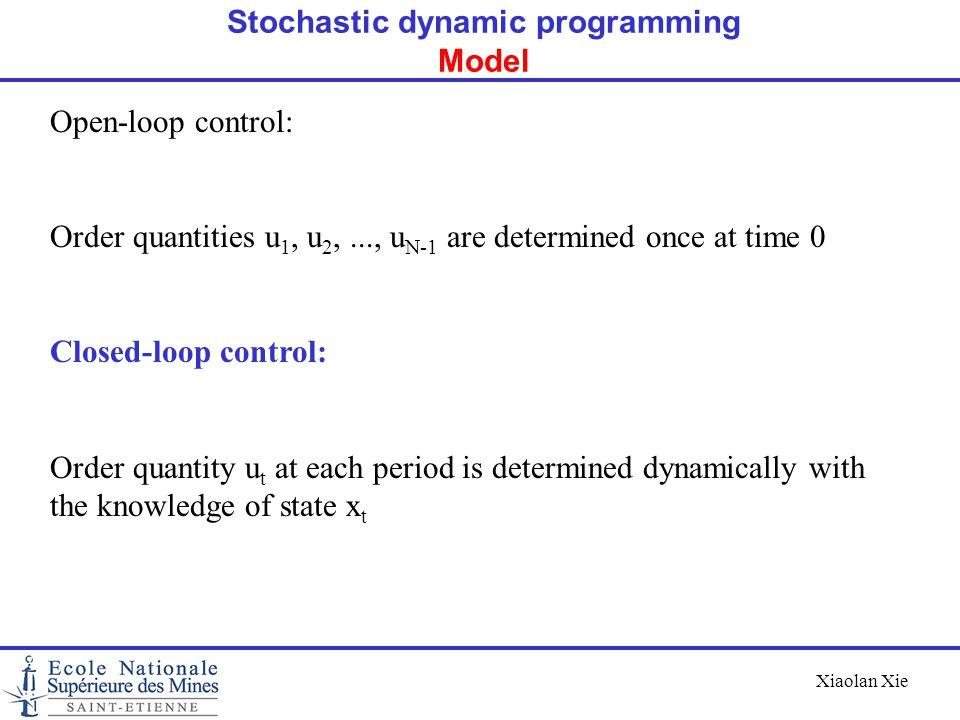 Stochastic dynamic programming Model