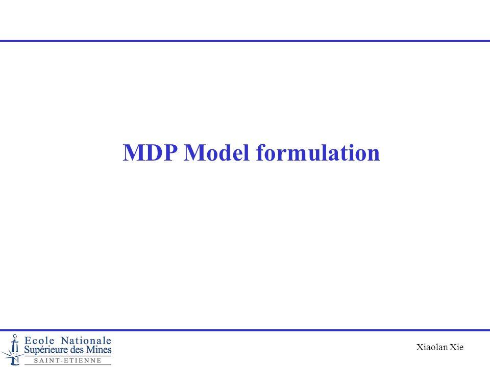 MDP Model formulation