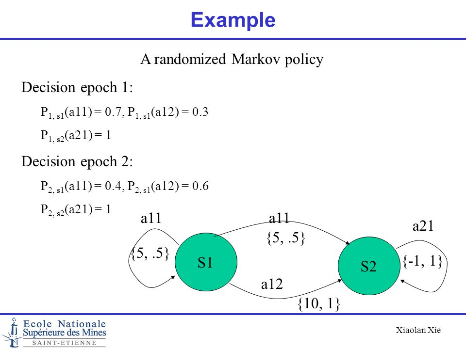 A randomized Markov policy