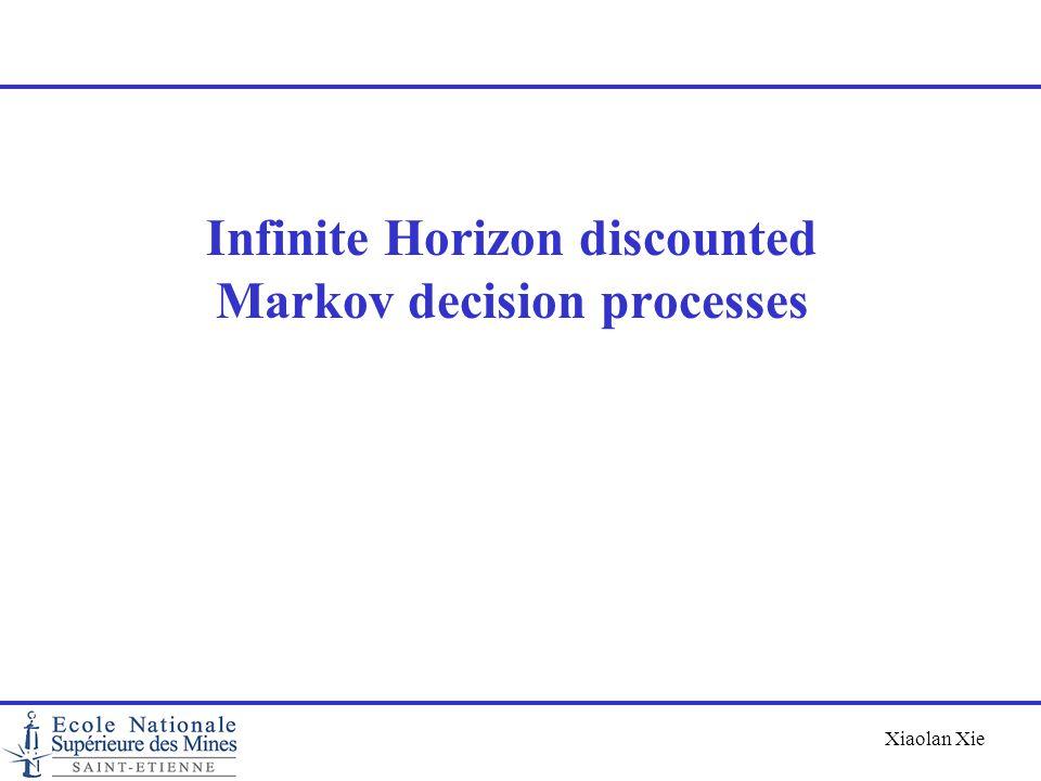 Infinite Horizon discounted Markov decision processes