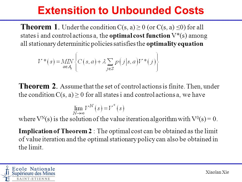 Extensition to Unbounded Costs