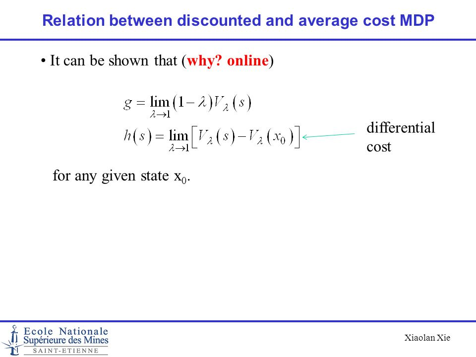Relation between discounted and average cost MDP