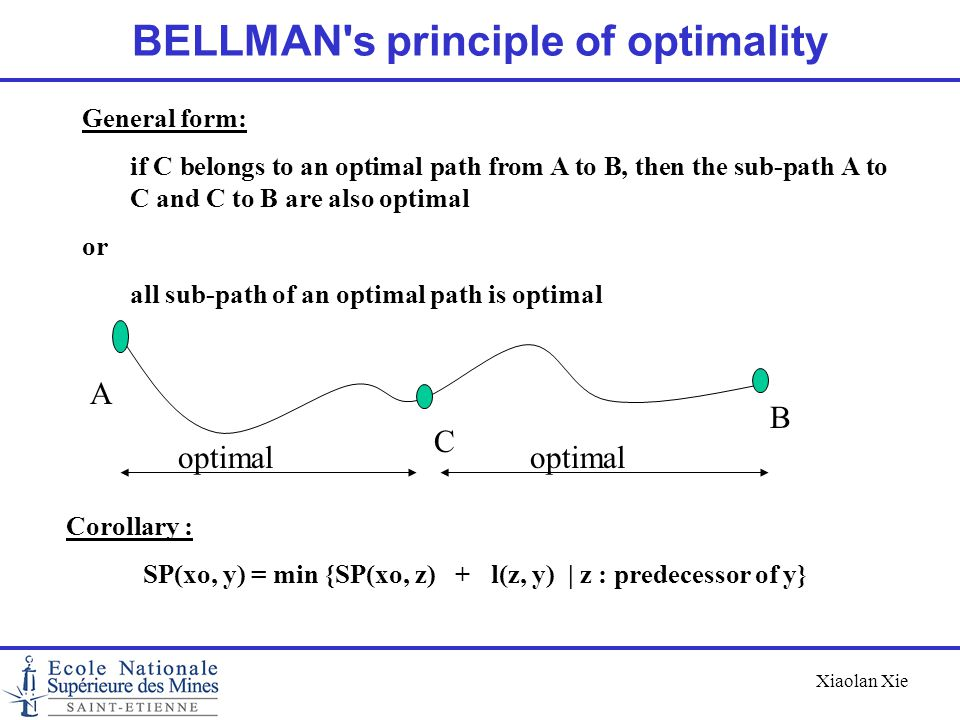 BELLMAN s principle of optimality