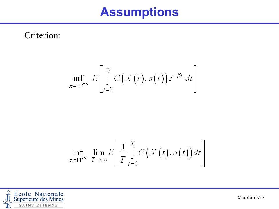 Assumptions Criterion: