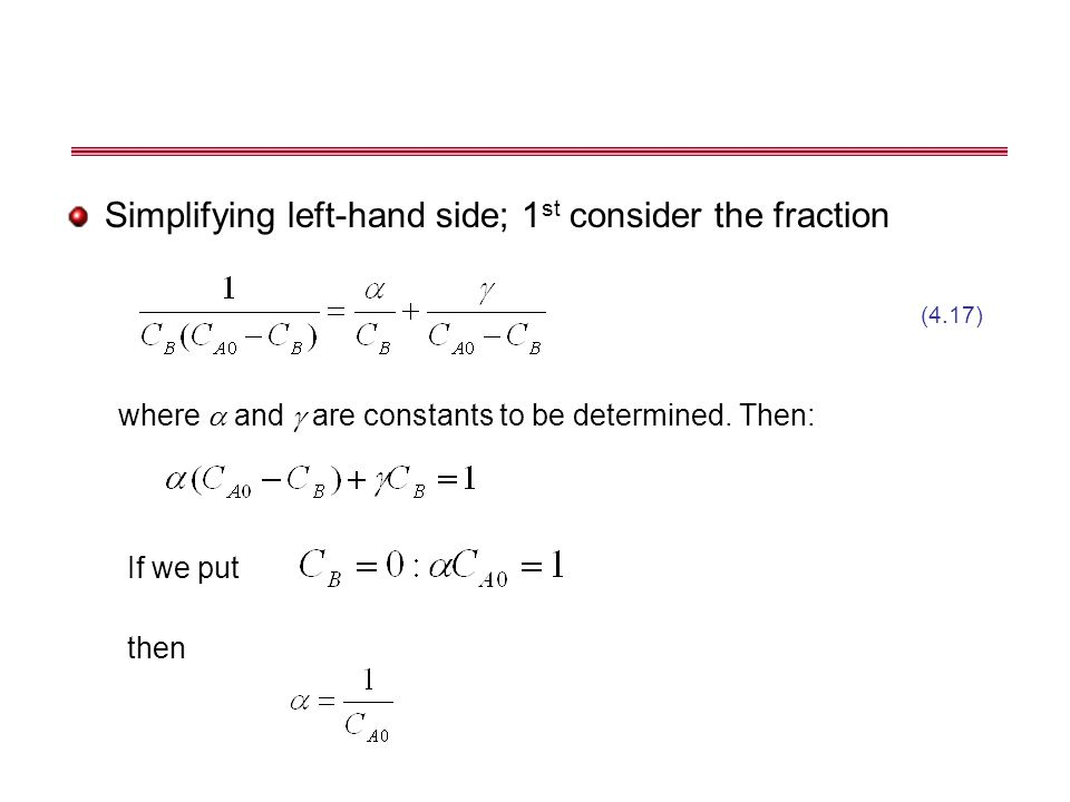 Simplifying left-hand side; 1st consider the fraction