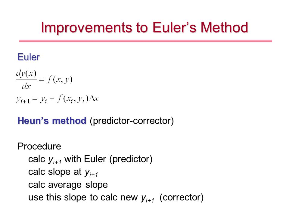 Improvements to Euler's Method