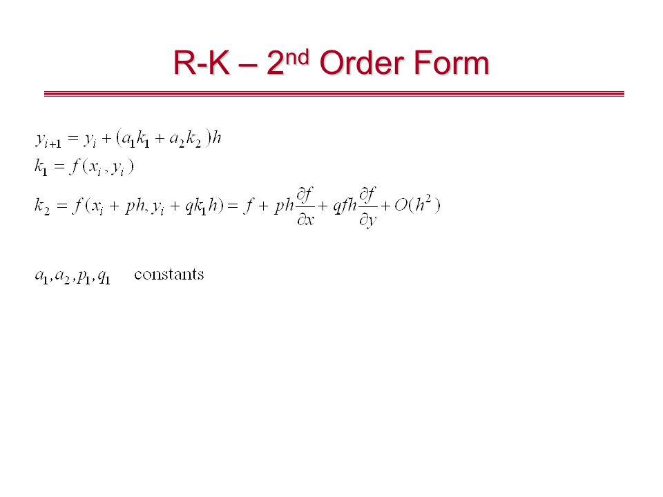 R-K – 2nd Order Form