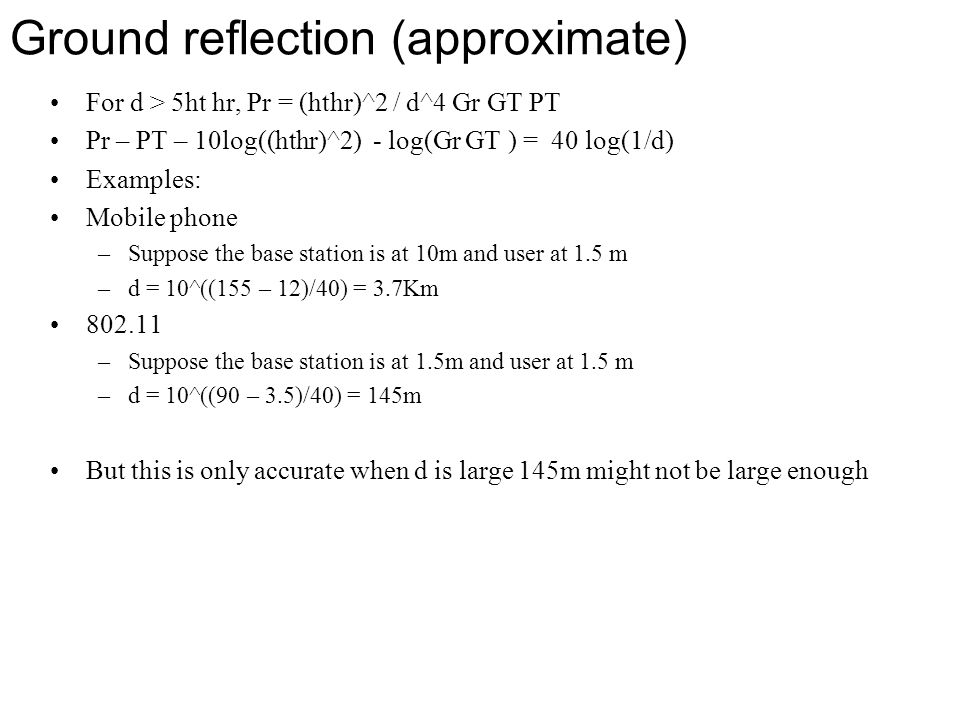 Ground reflection (approximate)