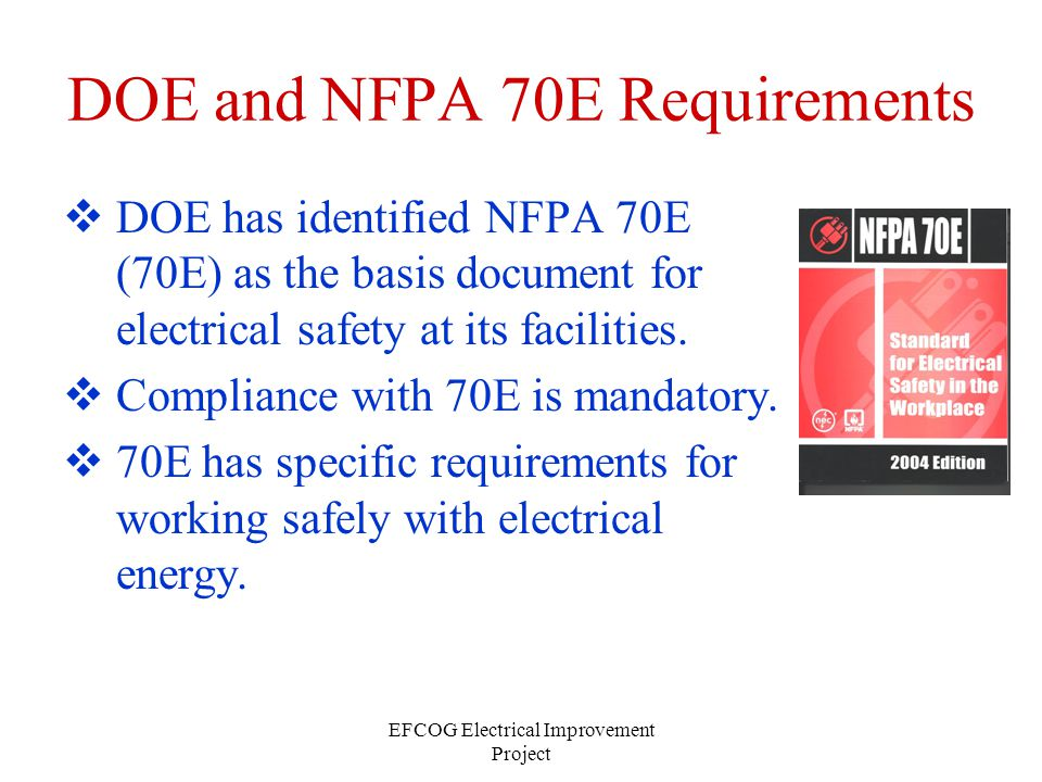 DOE and NFPA 70E Requirements
