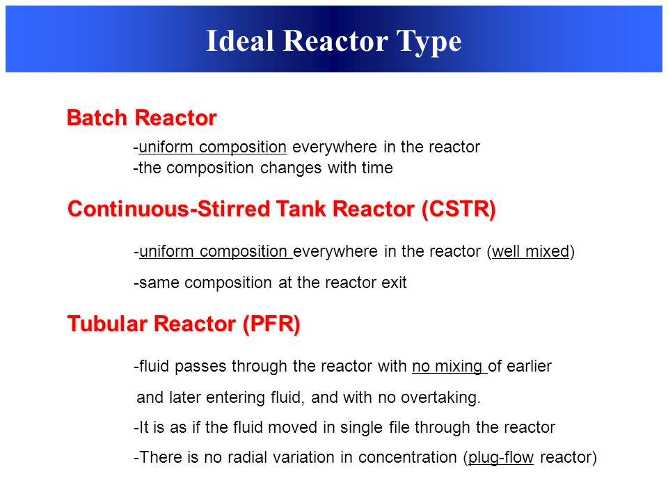 Ideal Reactor Type Batch Reactor