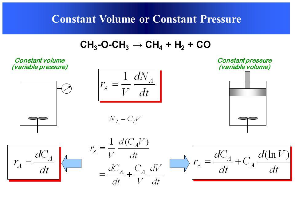 Constant Volume or Constant Pressure