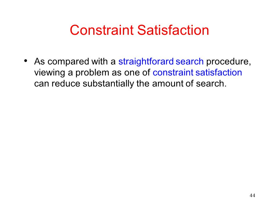 Constraint Satisfaction