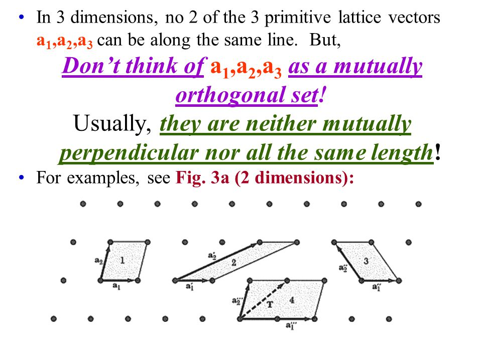 Don't think of a1,a2,a3 as a mutually orthogonal set!