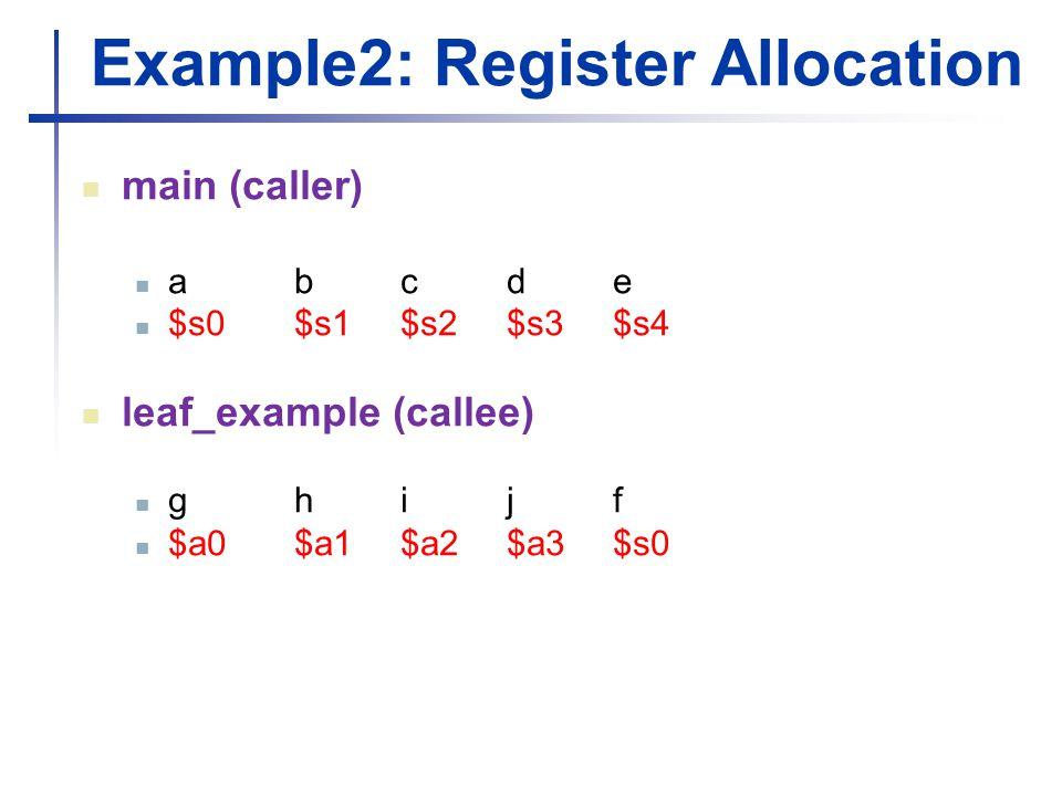 Example2: Register Allocation