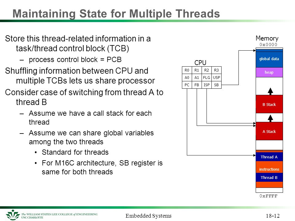Maintaining State for Multiple Threads