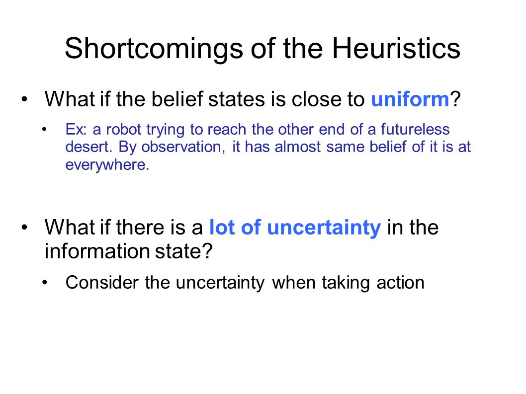 Shortcomings of the Heuristics