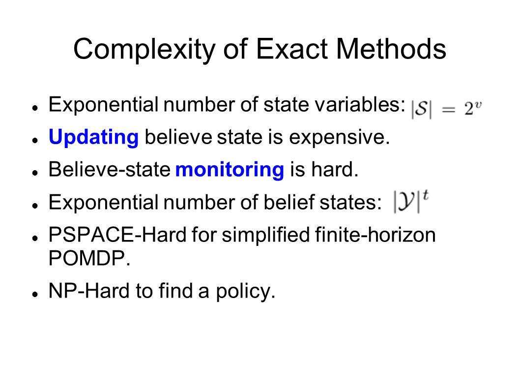 Complexity of Exact Methods