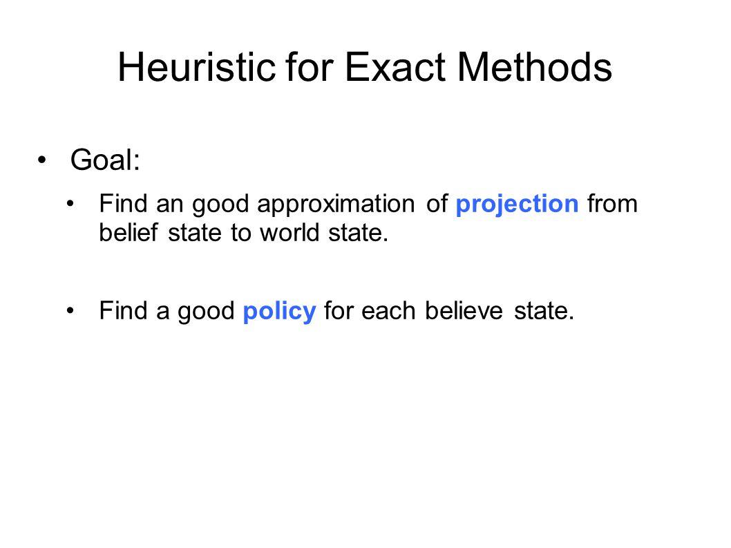 Heuristic for Exact Methods